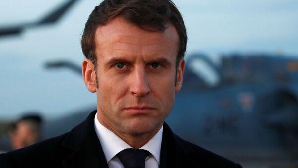 El presidente de Francia, Emmanuel Macron - Sputnik Mundo
