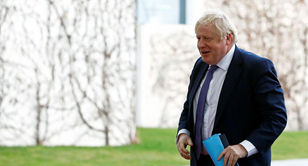 Primer ministro británico, Boris Johnson, en la conferencia internacional sobre Libia en Berlín