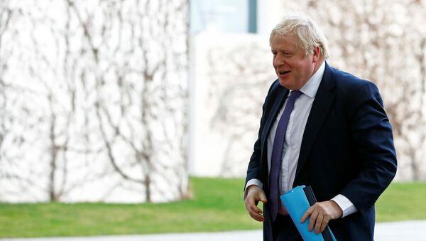 Primer ministro británico, Boris Johnson, en la conferencia internacional sobre Libia en Berlín - Sputnik Mundo