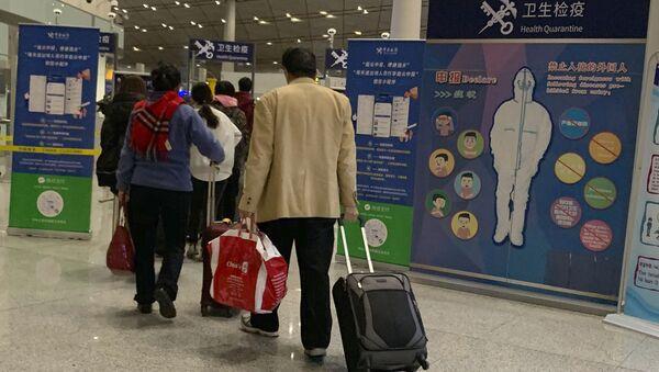 La zona de cuarentena en el aeropuerto de Pekín - Sputnik Mundo