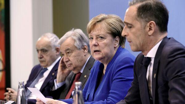 Angela Merkel en la conferencia sobre Libia - Sputnik Mundo