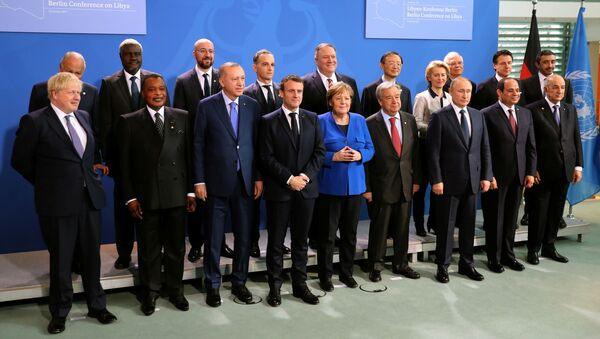 Participantes de la conferencia internacional sobre Libia en Berlín - Sputnik Mundo