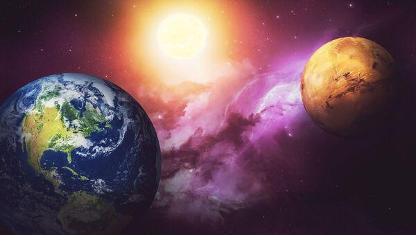 Marte y Tierra (ilustración) - Sputnik Mundo