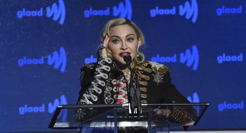 La cantante Madonna