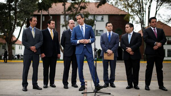 Juan Guaidó, opositor venezolano, en Colombia - Sputnik Mundo