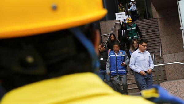 Macrosimulacro de sismo en México - Sputnik Mundo