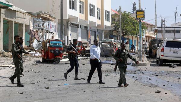 La policía somalí en Mogadiscio (archivo) - Sputnik Mundo