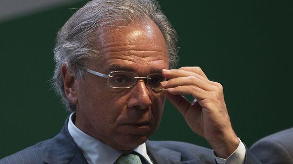 Paulo Guedes, el ministro de Economía de Brasil  - Sputnik Mundo