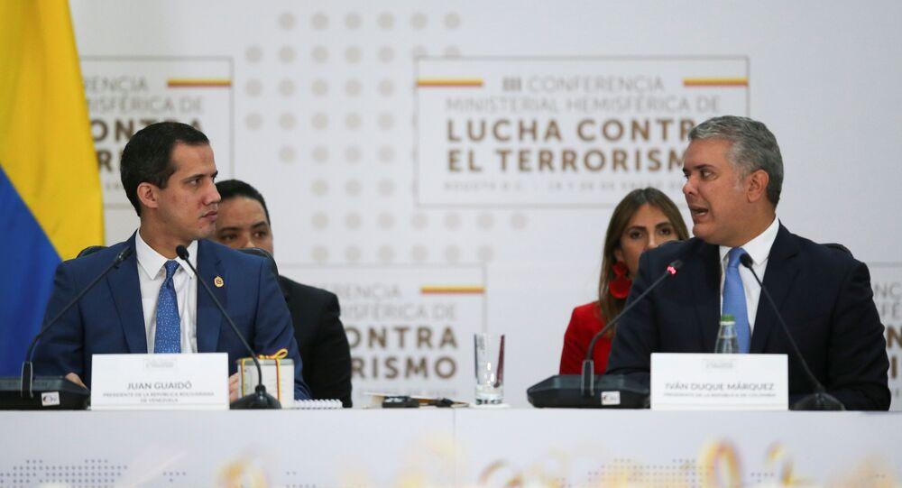 El presidente de Colombia, Iván Duque, junto al opositor venezolano Juan Guaidó