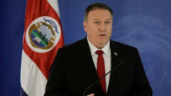 Mike Pompeo, secretario de Estado de EEUU, en Costa Rica - Sputnik Mundo