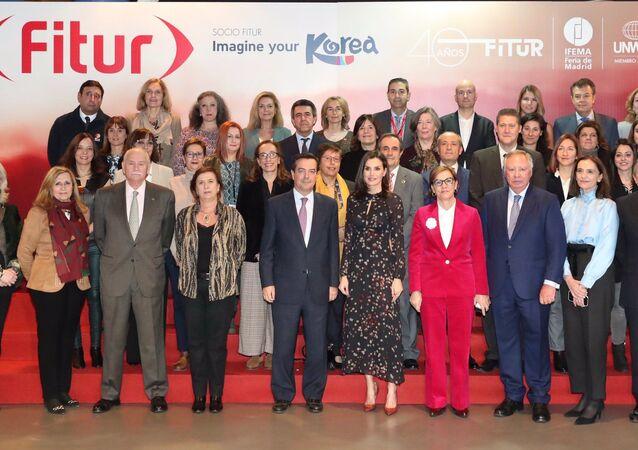 La reina Letizia de España y los participantes de la cuadragésima edición de la Feria Internacional de Turismo-FITUR en la inauguración oficial en Madrid