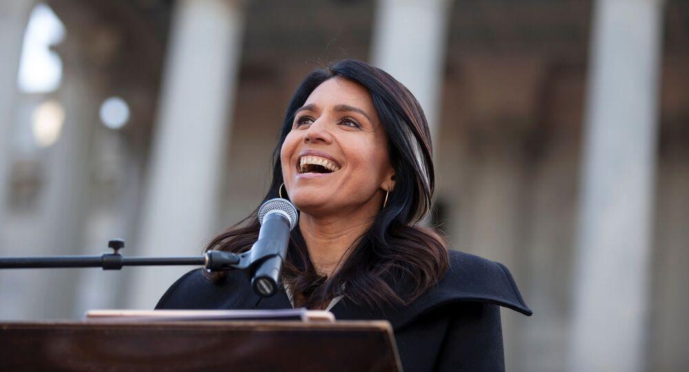Tulsi Gabbard, candidata presidencial de EEUU