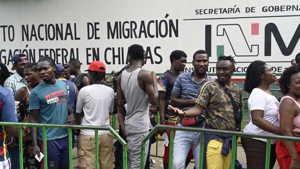 Migrantes en Tapachula, México  - Sputnik Mundo