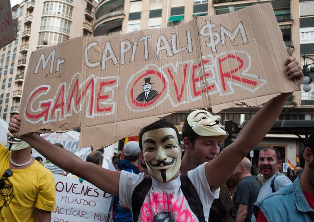 Manifestación anticapitalista (imagen referencial)