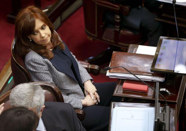Cristina Fernández de Kirchner, la vicepresidenta de Argentina