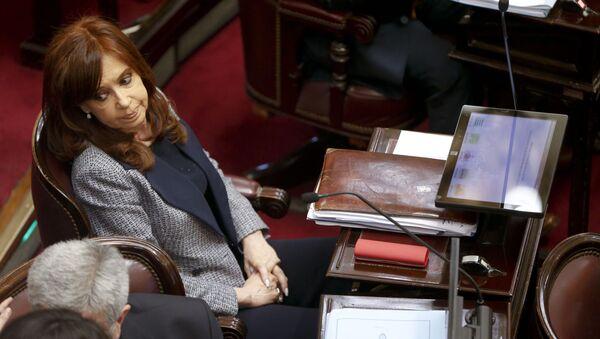 Cristina Fernández de Kirchner en el Senado argentino - Sputnik Mundo