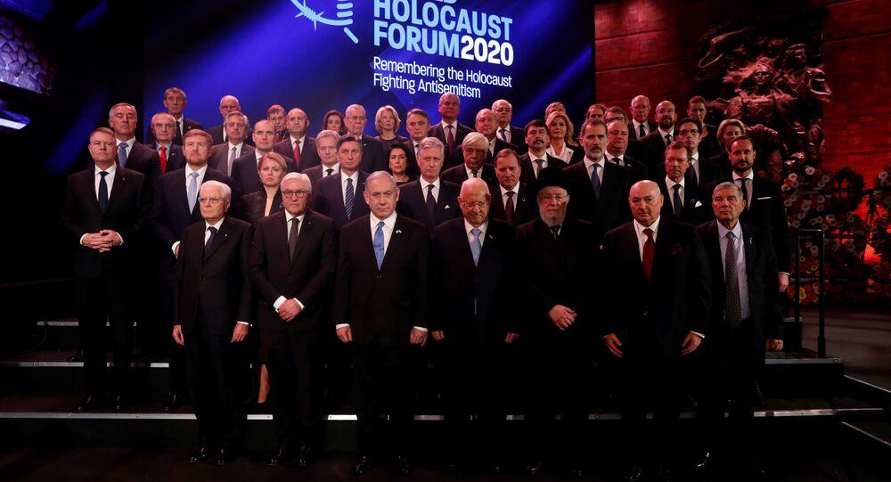 Líderes mundiales en el Foro Mundial del Holocausto