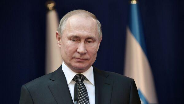 Vladímir Putin, presidente de Rusia, en Israel - Sputnik Mundo