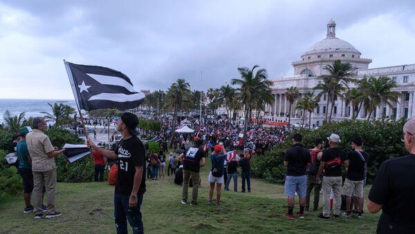 Protestas en Puerto Rico - Sputnik Mundo