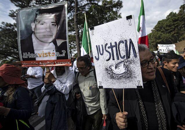 Caminata por verdad, justicia y paz y contra la impunidad en México