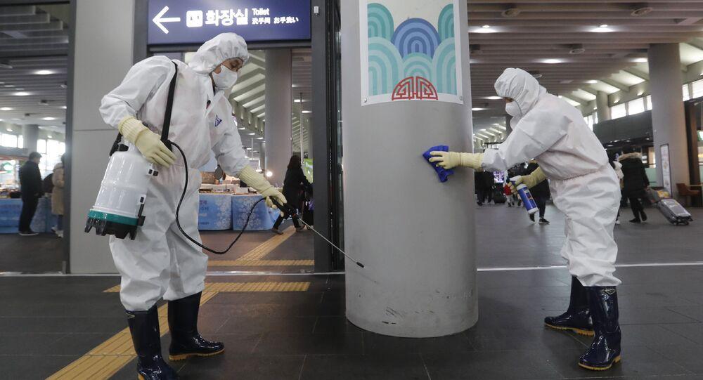 Lucha contra el nuevo coronavirus en Corea del Sur