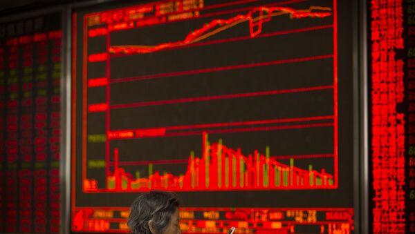 Bolsa china (archivo) - Sputnik Mundo