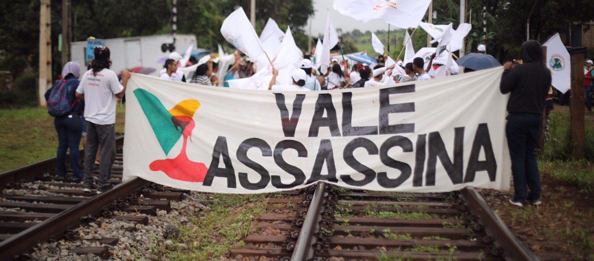 Manifestantes del Movimiento de Afectados por las Represas marchan desde Belo Horizonte hasta Brumadinho - Sputnik Mundo, 1920, 24.01.2020