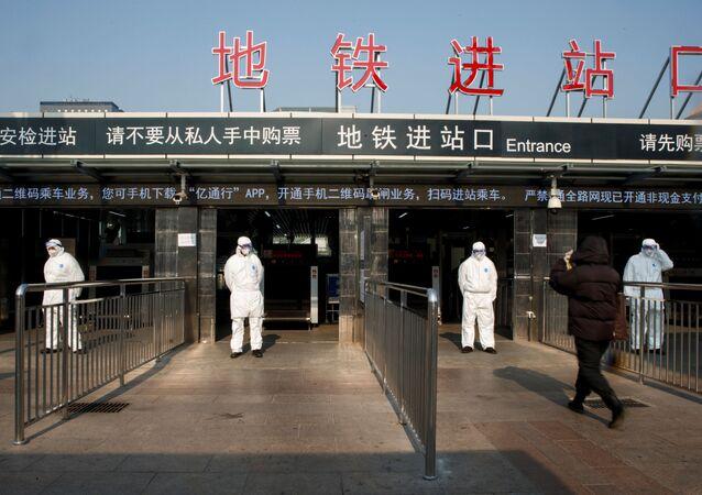 Control sanitario en Pekín