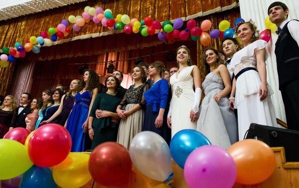 Universitarios participan en las celebraciones del Día de Tatiana en la Universidad Estatal de Sebastopol - Sputnik Mundo