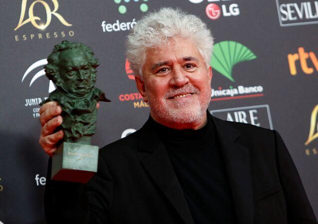 Director de cine español Pedro Almodóvar durante los premios Goya 2020