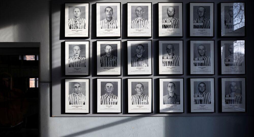 Fotos de prisioneros del campo de exterminio nazi en Auschwitz