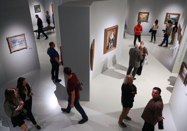 Una exposición en el Museo de Impresionismo Ruso en Moscú (archivo)