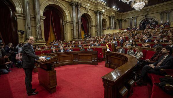 La sesión plenaria del Parlamento de Cataluña, España - Sputnik Mundo