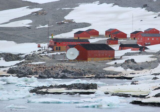 Una estación argentina en la Antártida