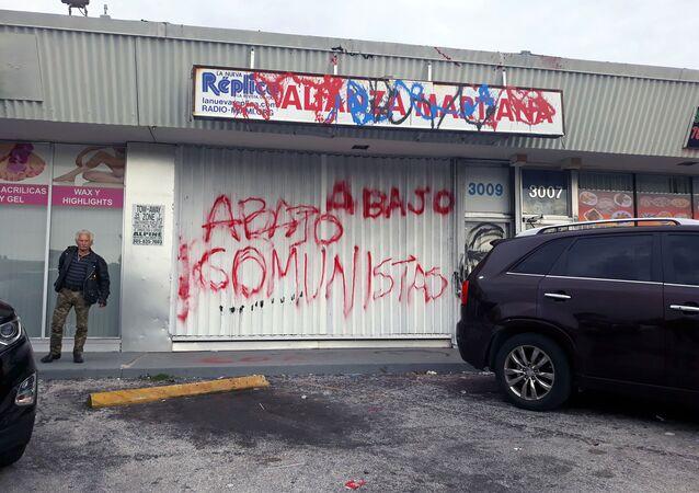 Sede de la coalición Alianza Martiana en Miami