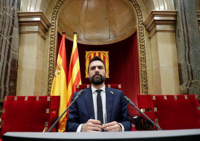 Roger Torrent, el presidente del Parlamento catalán