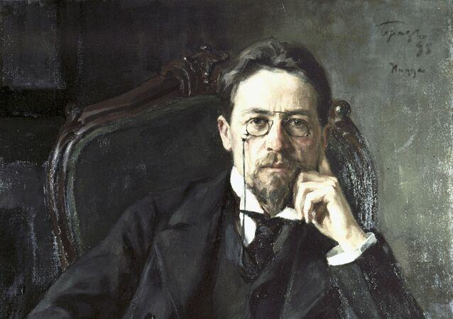Retrato del dramaturgo ruso Antón Chéjov
