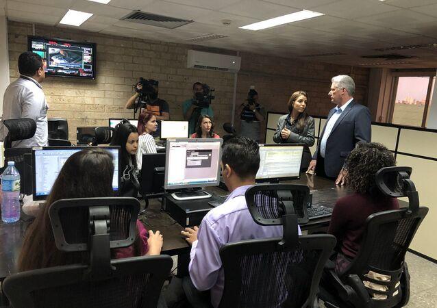 La inauguración del Centro de Producción de Contenidos de Telesur en La Habana