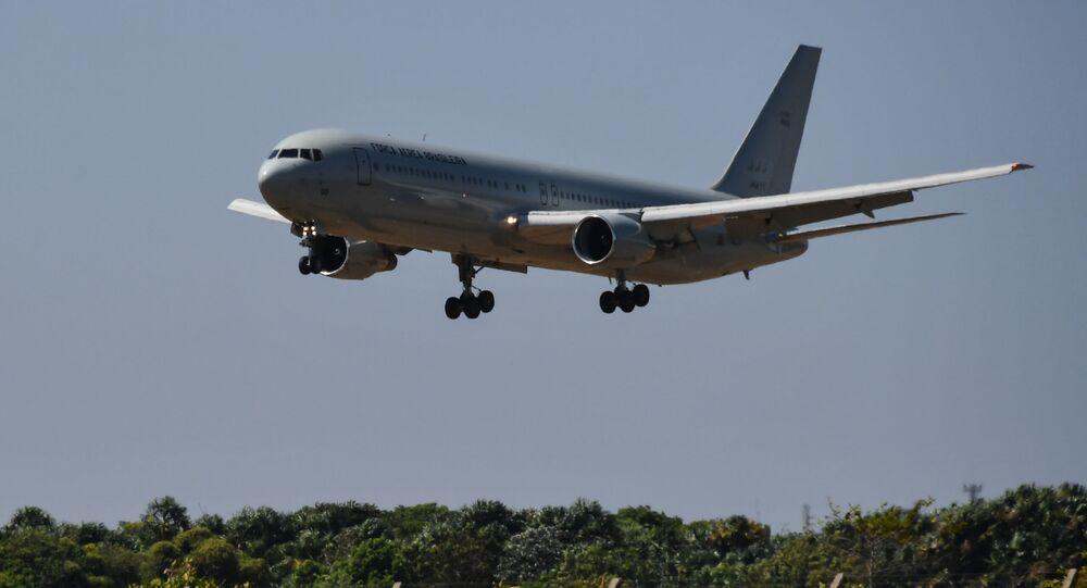 Un avión de la Fuerza Aérea Brasileña