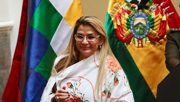 Janine Áñez, presidenta de facto de Bolivia - Sputnik Mundo