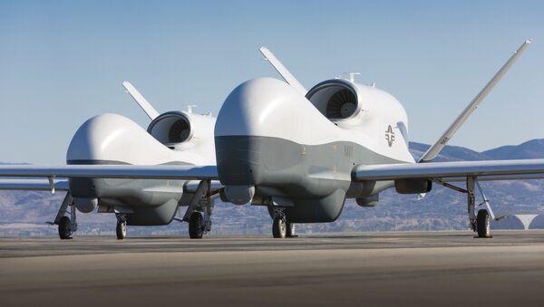 Dron de reconocimiento MQ-4C Triton de Northrop Grumman (archivo) - Sputnik Mundo