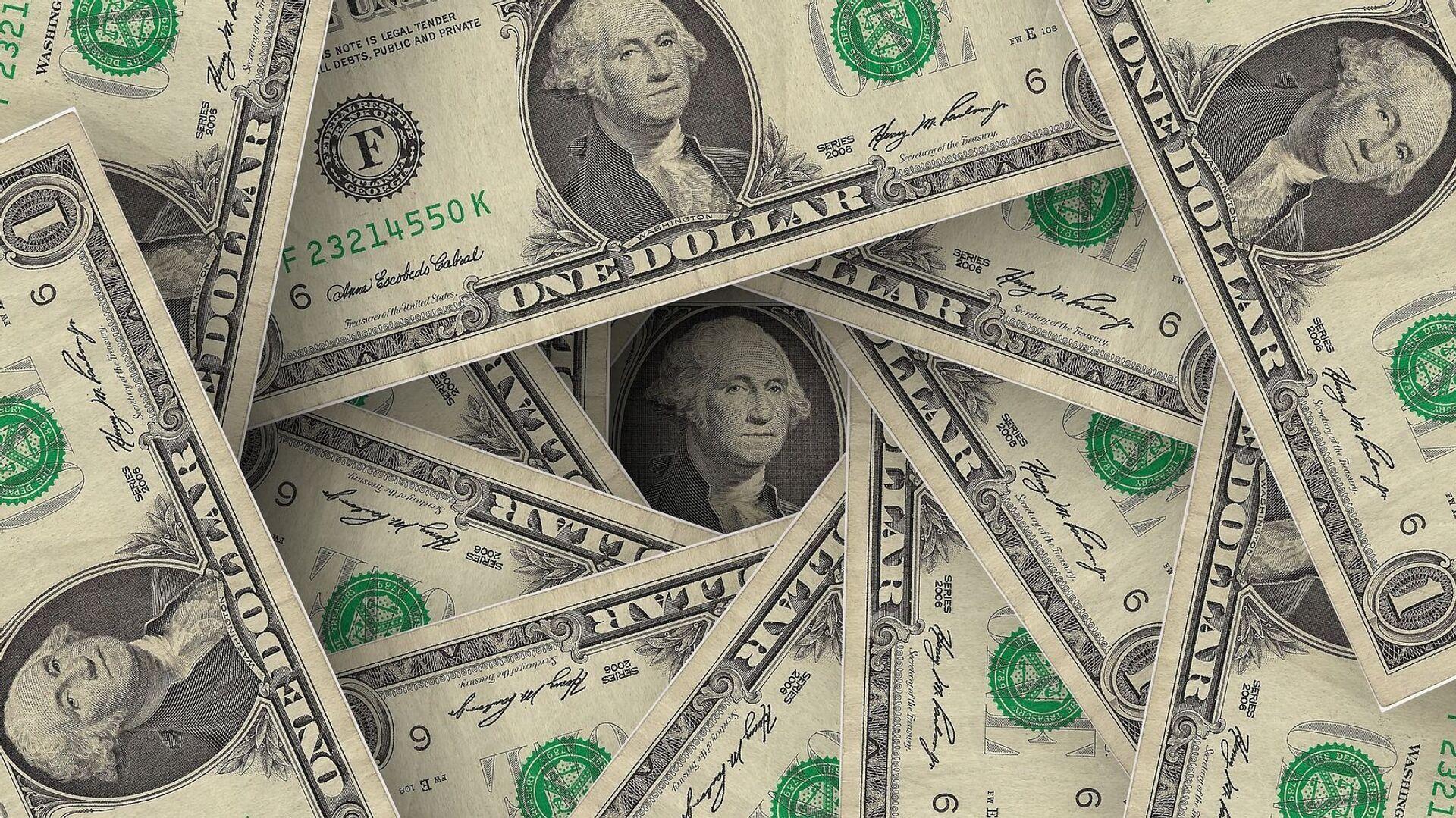 Billetes de dólares - Sputnik Mundo, 1920, 24.03.2021