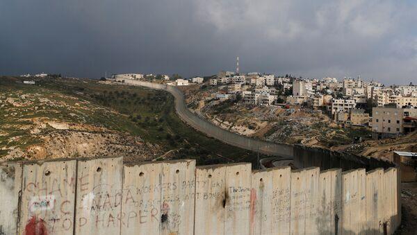 El muro que divide los teerritorios de Israel y Palestina - Sputnik Mundo