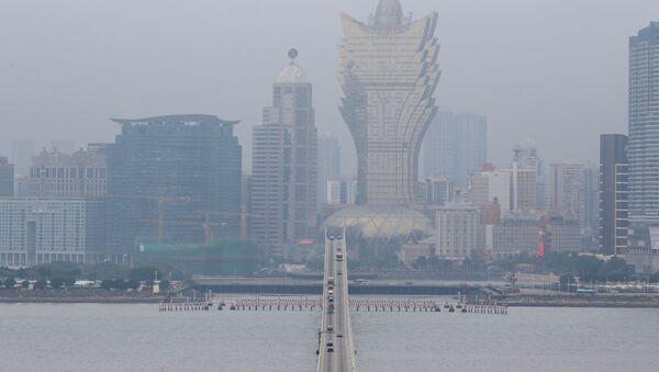 El smog en la ciudad de Macao, China (imagen referencial) - Sputnik Mundo