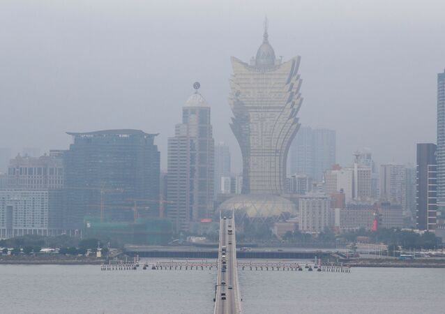 El smog en la ciudad de Macao, China (imagen referencial)