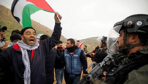 Protestas de los palestinos contra el 'acuerdo del siglo' - Sputnik Mundo