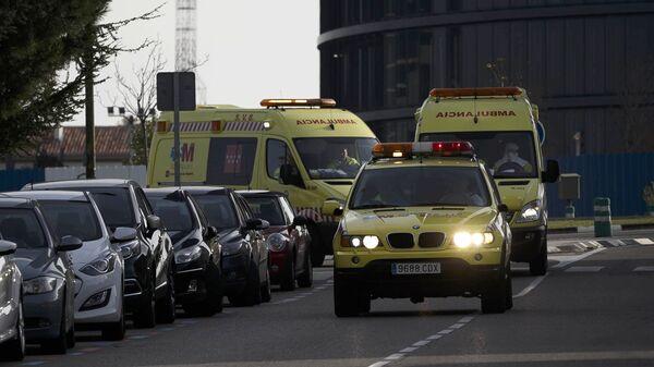 Ambulancias en Madrid, España - Sputnik Mundo