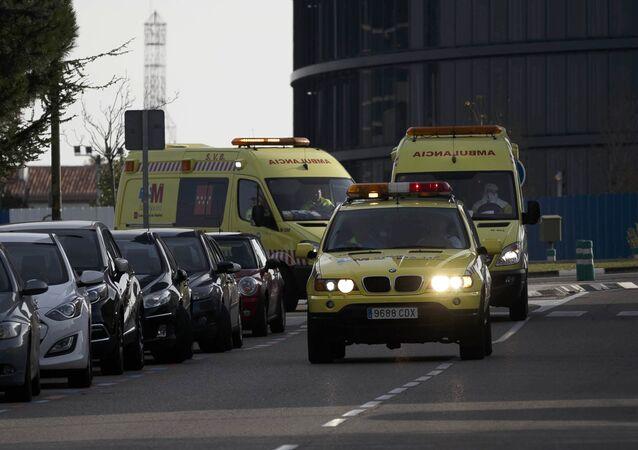 Ambulancias en Madrid, España