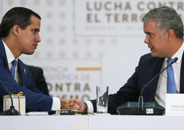 El opositor venezolano, Juan Guaidó, y el presidente de Colombia, Iván Duque