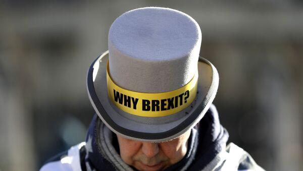 Un manifestante en contra del Brexit - Sputnik Mundo